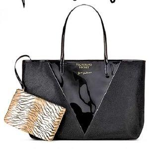 2pc VS Clear Panel tote bag purse Animal Wristlet